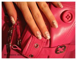 Escada.Pink flower-3 -nail-art by Shangova