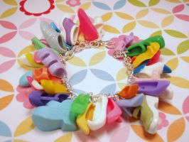 Shoe Mad Charm Bracelet by PoniesOfDOOOM