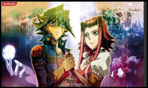 |Akiza and yusei  ~ PlayMat 2 | by ALANMAC95