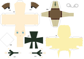 Hell/Police Germany papercraft by DandelmiNia