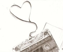.:ACEO:. Love Is A Mix-Tape by EvaHolder