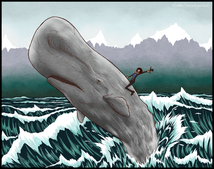 Fave animal series: 2 - Sperm Whale feat. Brook by Chronomorphosis