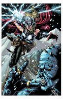 Thor vs Frost Giant colors by spidey0318
