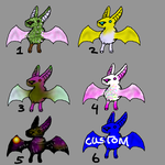 Adoptable Batch Of Bats by SparrowWrightheart