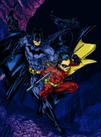 Batman and Robin 2  colored by RCarter