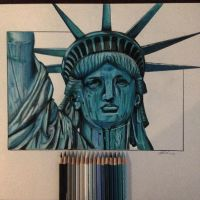 Statue Of Liberty by PencilRick