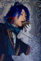Vocaloid: Kaito+Muffin...munch by 2greenia