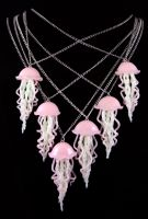 School of Jellyfish Necklaces by NeverlandJewelry