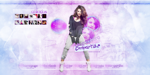 Selena Gomez Header#5 by DarkVisuals