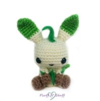 Leafeon Amigurumi by SailorMiniMuffin