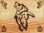 Wolf and Raven Wood Burning by MorRokko
