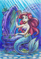 Ariel coloring sheet exercise by sketchris