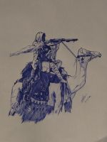 Arab Camel Soldier by Wolfang11