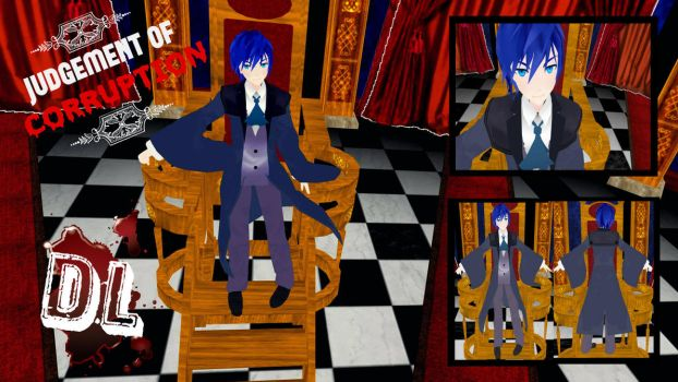 MMD Kaito Judgement of Corruption DL by PrincessSushiCat