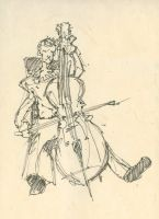 Man Playing Cello by Everruler