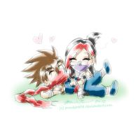 Hiryu x Tora - Tickle Attack by punkbot08