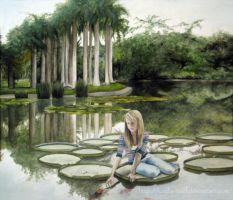 Andrea and the Lily pads by Kayla-Noel