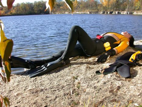 Quarry Diver 03 by LatexImage