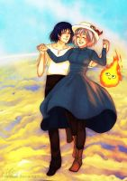 Howl's Moving Castle by irenukia