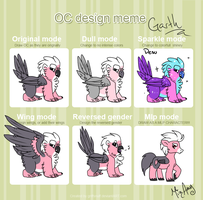 OC Design meme - Garth by MizAmy