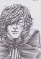 Captain Harlock : Farewell, Tomodachi. (B. and W.) by Natsuki1986
