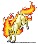 Bucking Ponyta by DemiSaurusRex