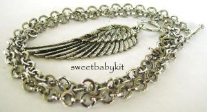 One Winged Necklace by sweetbabykit