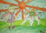 Kurow and Chibiterasu by Blasterwalter90