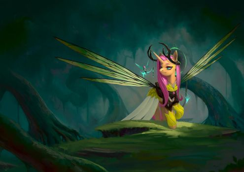 Commission: Alicorn Fluttershy by Eosphorite