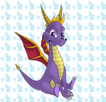 Spyro the dragon by Little--black