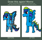 Mlp:Draw This Again Meme:Rainstorm Blitz by Theponyfangirl