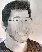 1st Attempt Markiplier Drawing by LooneyArtist