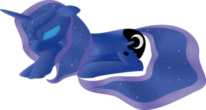 Sad Princess Luna by Rusilis
