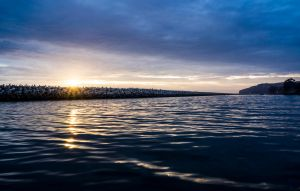 Sun Rays and Harbor Blues by Drake-Photography