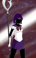Sailor Saturn by anotherwannabeartist