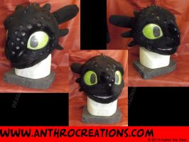 Toothless Drachentoter Anthro Suit Head Fin by AtalontheDeer