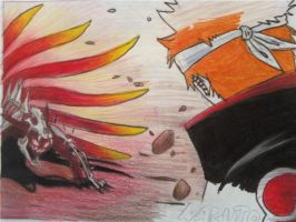 unfinished naruto against pein by RedZedEMo