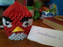 Red angry bird -front view- by PencilDrawer12