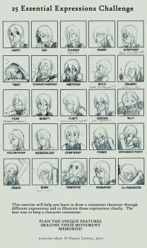 Spheira's 25 Ess. Expressions by pettyartist