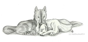 snuggle by RedSoulWolf13