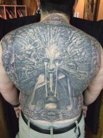 giger back piece by madcreature