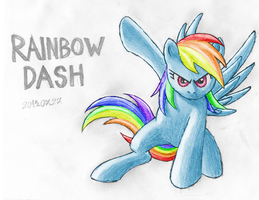Rainbow Dash Epic Pose by GravityTHunder