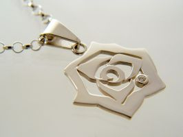 The Rose Pendant by deaddamien
