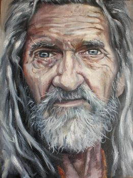 A stranger, Painting by thabudgie81