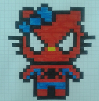 Spider Hello Kitty by DeiDeiCat98