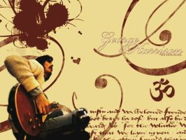 george harrison wallpaper by NowhereBoy