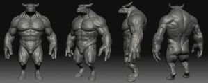 Monster_Bull_Zbrush by Bida999