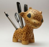 Raffy Giraffe the Pen Holder by MindoftheMasons