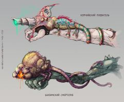 Symbiotic weapon by AspectusFuturus