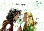 Estel and Legolas by Windrelyn